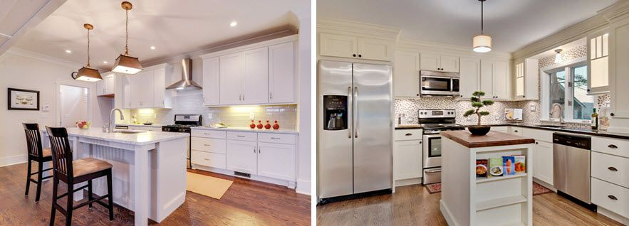 Rockford painted white kitchen cabinets by CliqStudios kitchens
