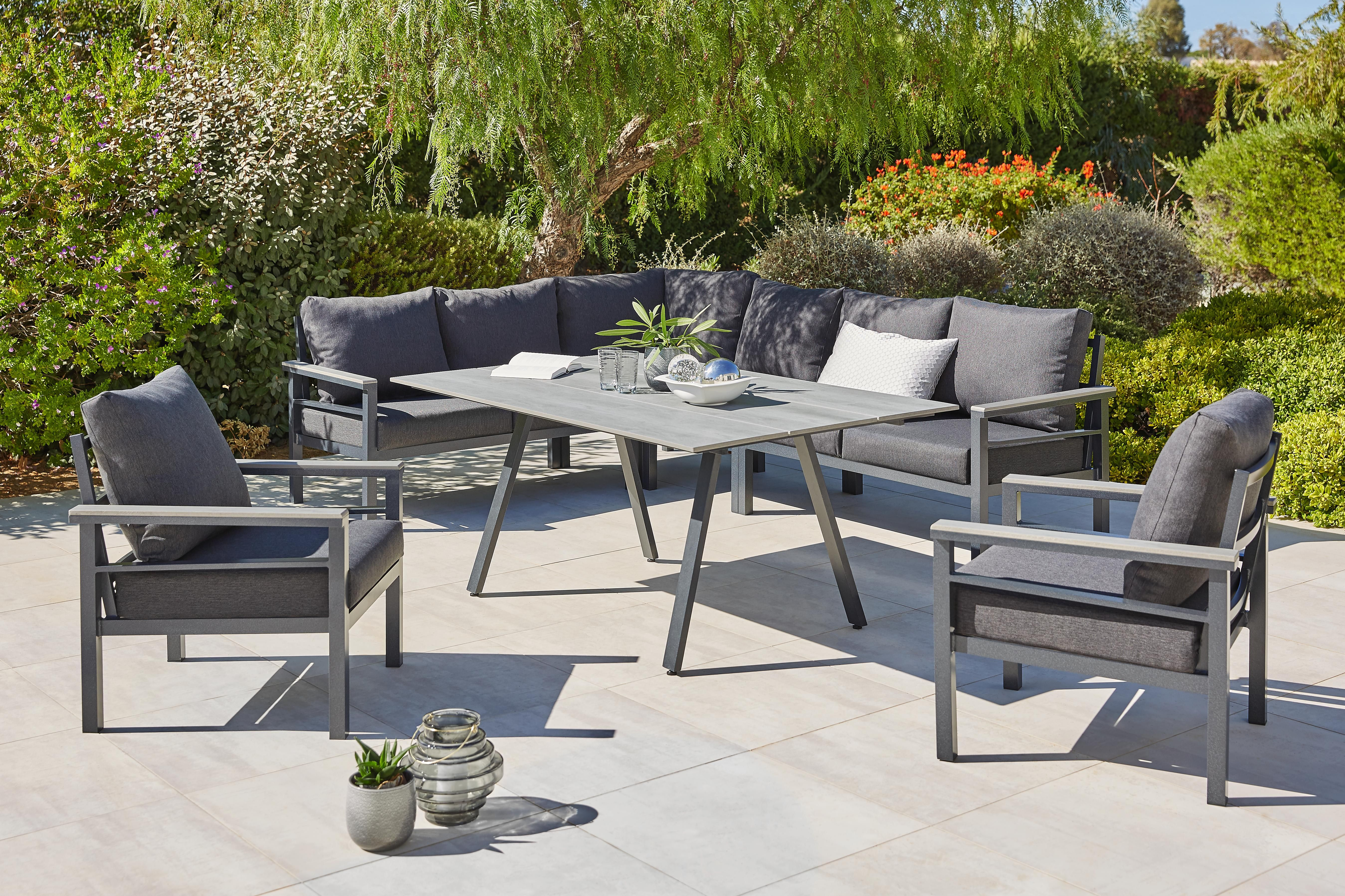 Dining Loungeset 5 Teilig 259 199 Cm In 2020 Garten Lounge Lounge Garnitur Lounge