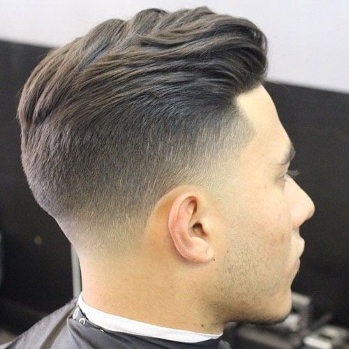 Delightful Tight Taper Fade With Textured Slick Back