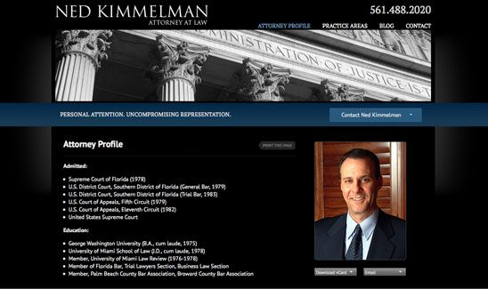 Lawyer Web Design By Paperstreet Www Paperstreet Com Attorney
