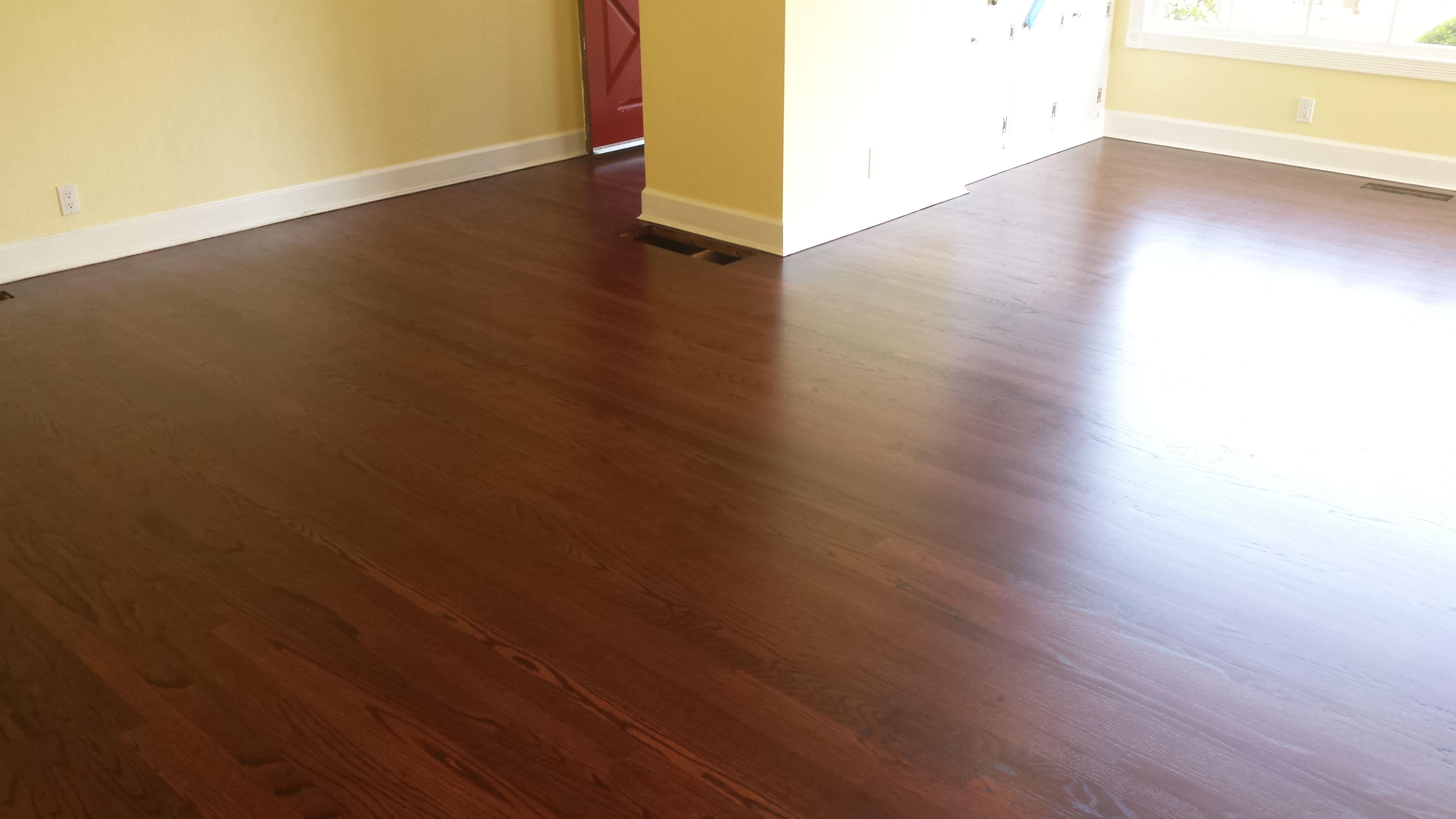 Duraseal Royal Mahogany Red Oak Modern Tech Wood Floors Portland Oregon Red Oak Wood Floors Hardwood Floors Wood Floors
