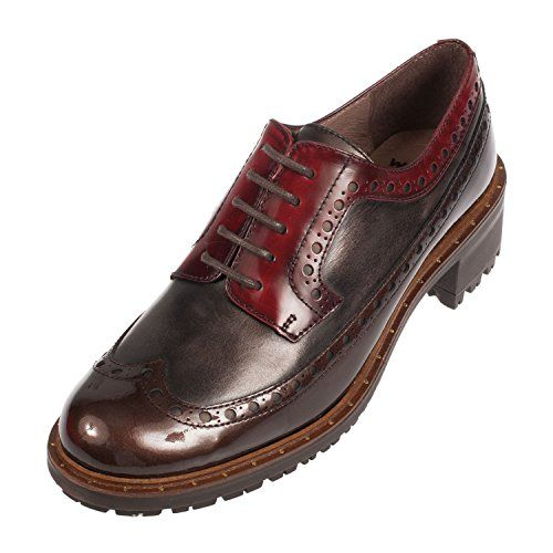 510dd1d4a33 WONDERS Women's Leather Lace up Brogue Shoe (E-5607) | fashion place ...