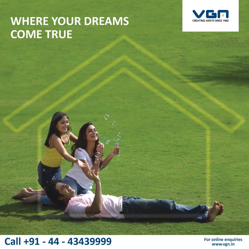 VGN - A one stop place where your dreams come true.  At VGN, We always value the beliefs and culture of people and that is why we are able to provide only the best to our customers.   #CreatingAssets #Since1942 #VGN #Chennai