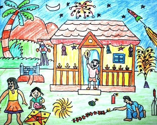 Diwali Drawing Ideas 2018 Diwali Drawings For Children S Diwali Drawing Step By Step Diwali 2018 How To Draw D Diwali Drawing Diwali Images Diwali Pictures