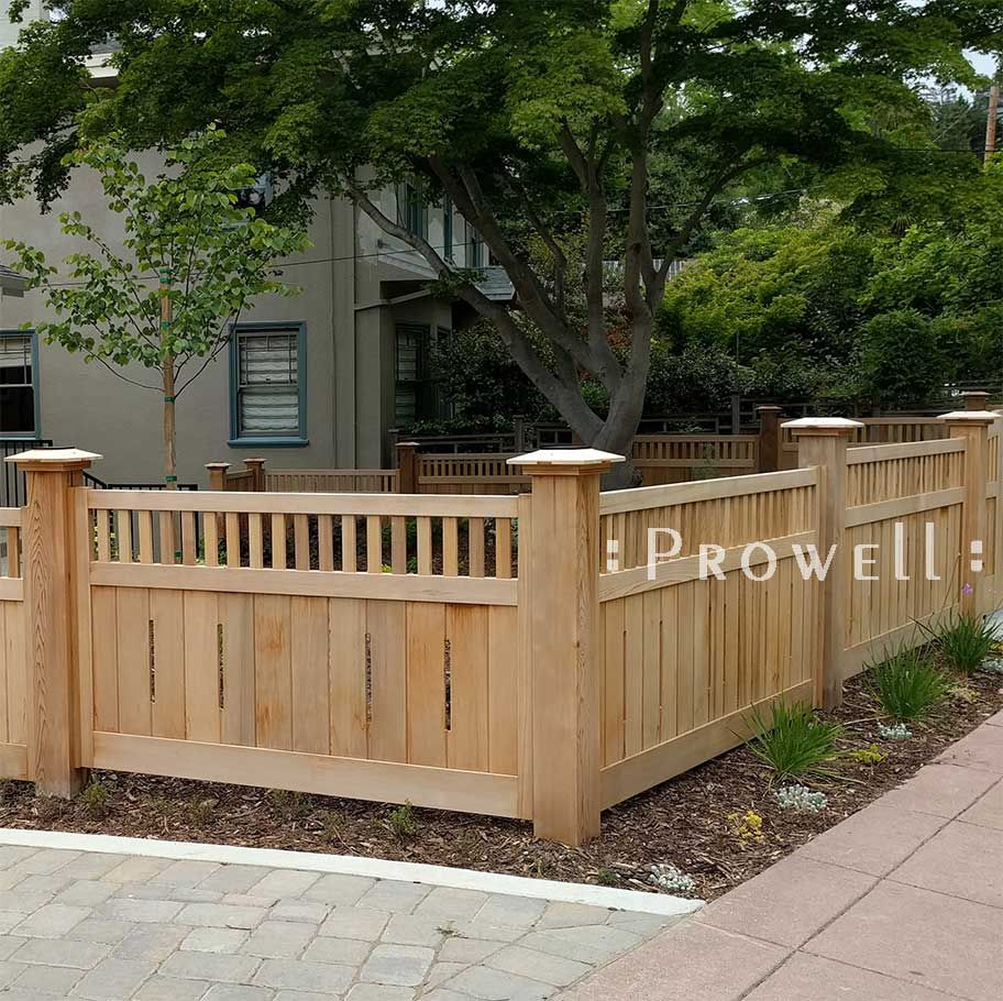 Custom Wood Fence Panels 1a By Prowell Woodworks Wood Fence House Fence Design Backyard Fence Decor