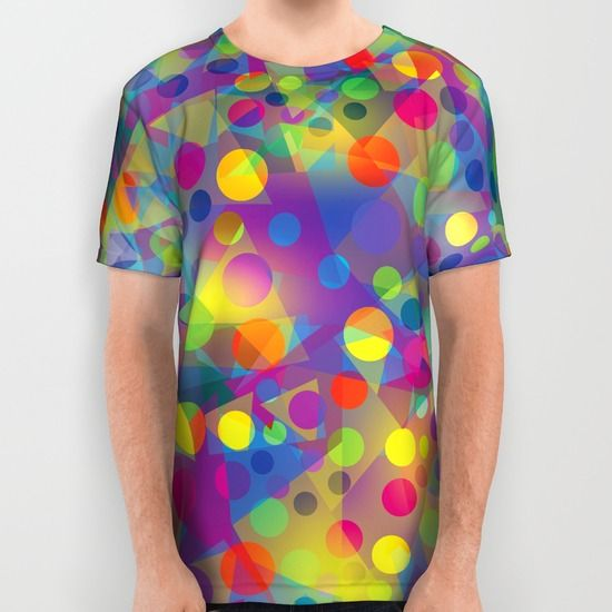 #geometric #geometry #colorful #abstract #t-shirts #rounds #circles #modern #apparel #clothing #tirangles