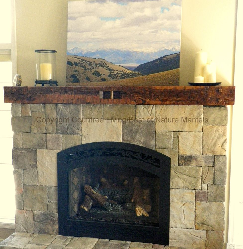 reclaimed wood mantel | ... wood fireplace mantel,rustic log fireplace  mantel, - Reclaimed Wood Mantel Wood Fireplace Mantel,rustic Log