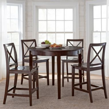 Dining Possibilities 5-pc. Counter-Height Round Dining Set ...