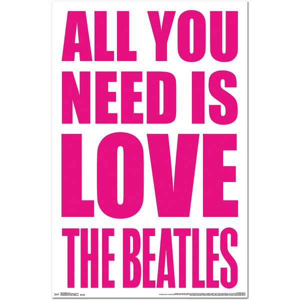 Trends international the beatles love wall poster inch x 34 inch multicolor