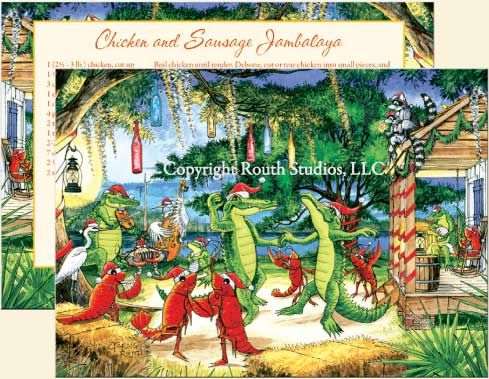 christmas on the bayou christmas cards c12c routh studios - Christmas In The Bayou