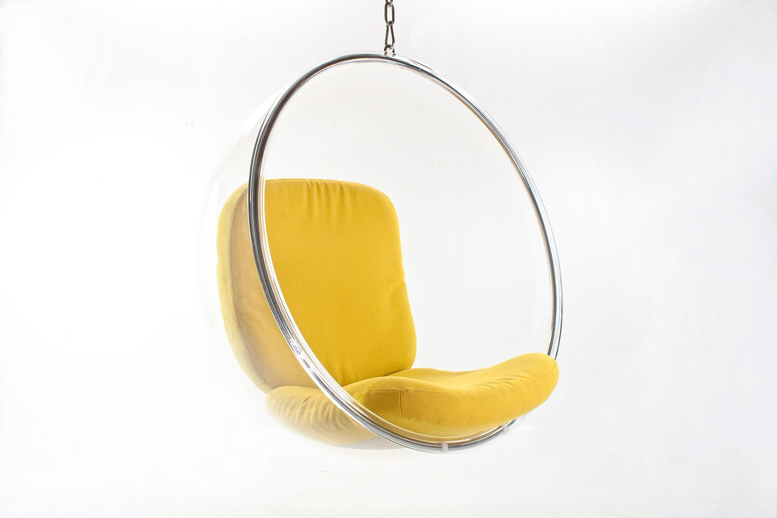 Original Acrylic Bubble Hanging Chair Of Eero Aarnio. The Bubble Chair Is  Designed By Eero