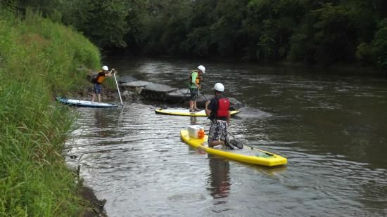 Training on the paddleboard