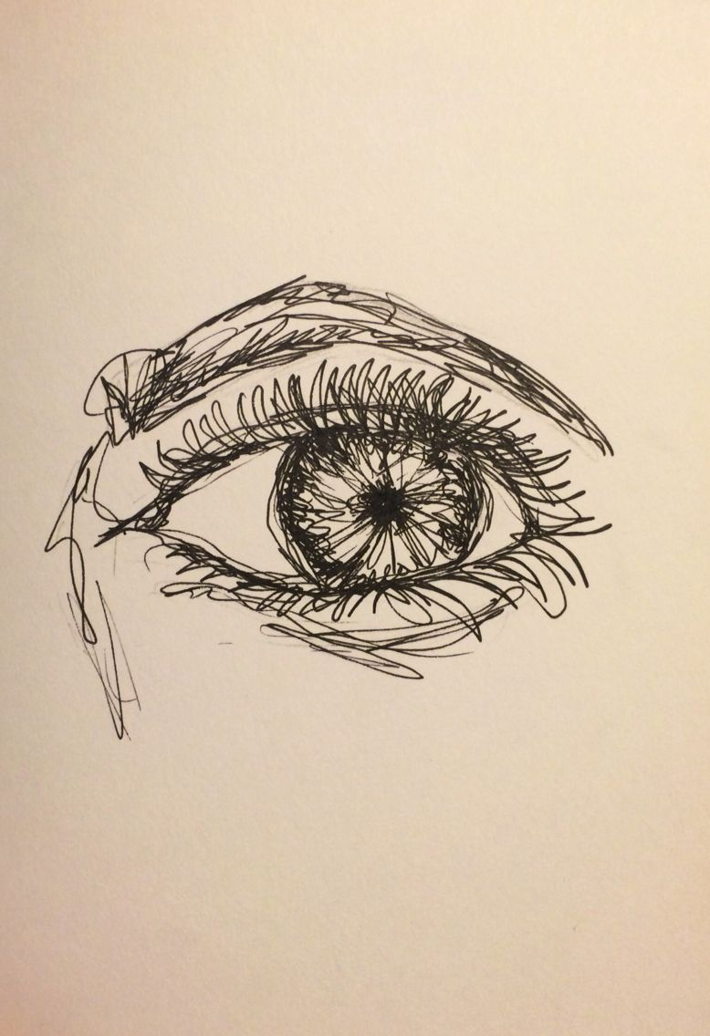 Human Eye Sketch One Line Sketches In 2019 Eye Drawing