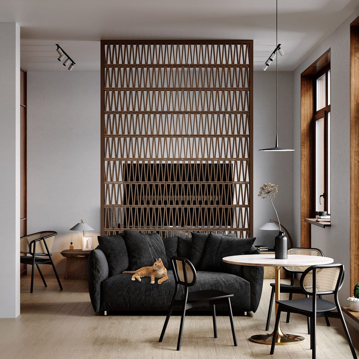 Chic Small Interiors That Make You Want To Live The Studio Life In 2020 Sofas For Small Spaces Small Space Interior Design Interior