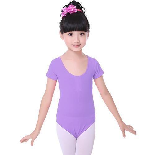 bf667aff5375 Children Kids Pink Cotton Short Long Sleeve Leotard Clothes Girls ...