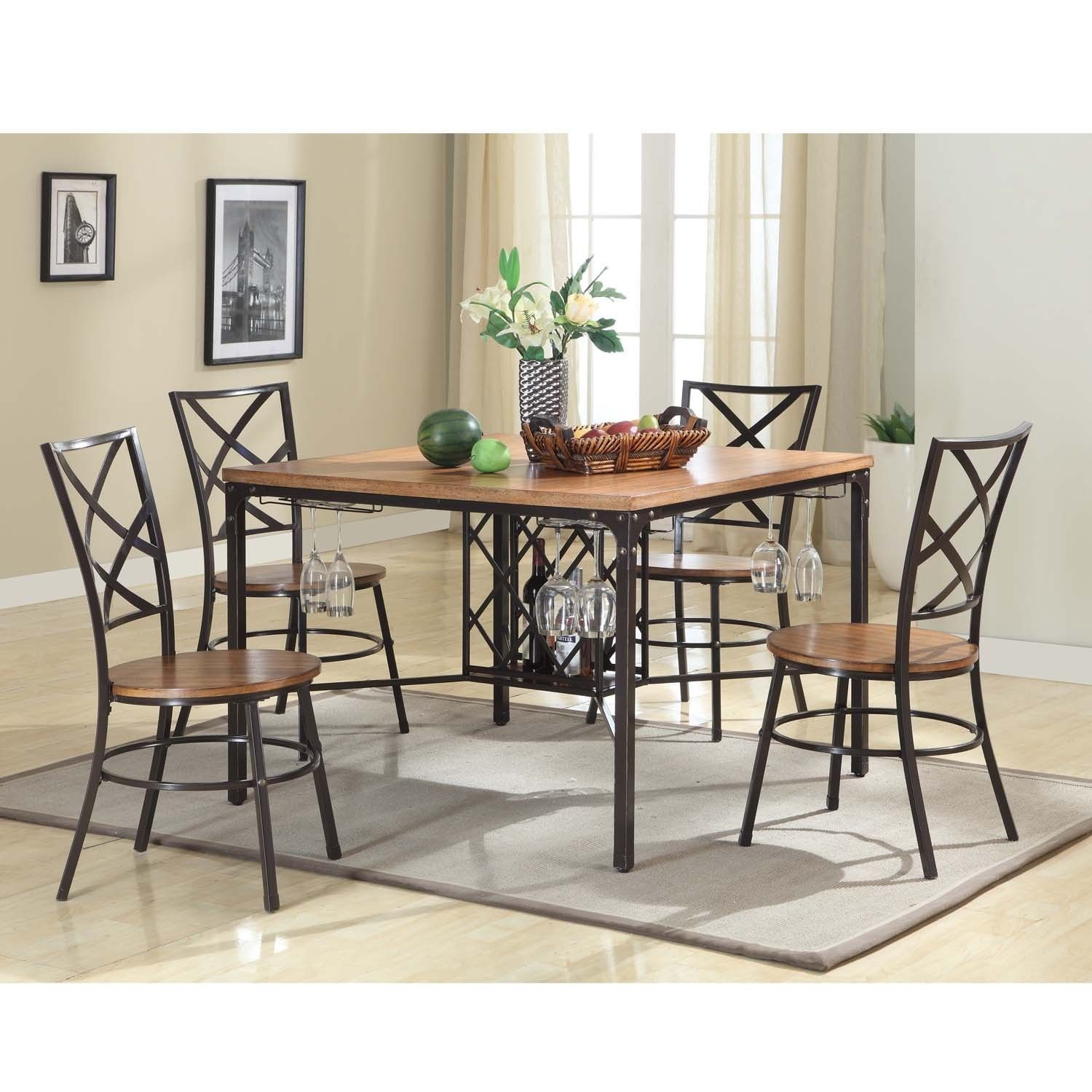 Baxton Studio Anna Vintage Industrial 5 Piece Dining Set   Overstock  Shopping   Big Discounts