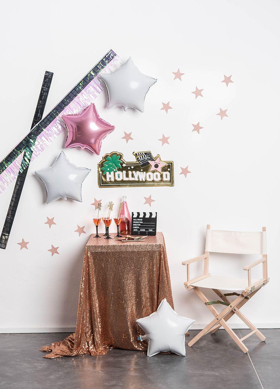 Hollywood Partybox Pl Gwiazdki Dekoracja Obrus Pomysly Do
