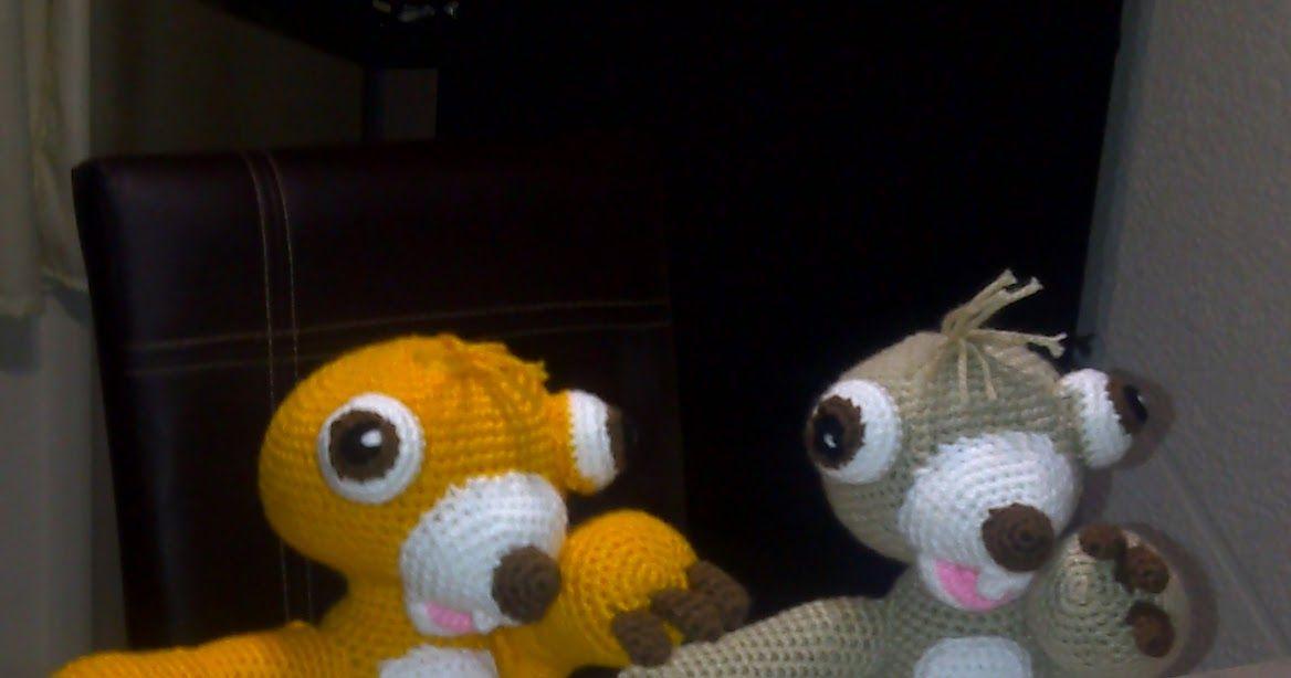 Amigurumi Crochet Personajes : Patron sid personaje de la era del hielo amigurumi amigurumis