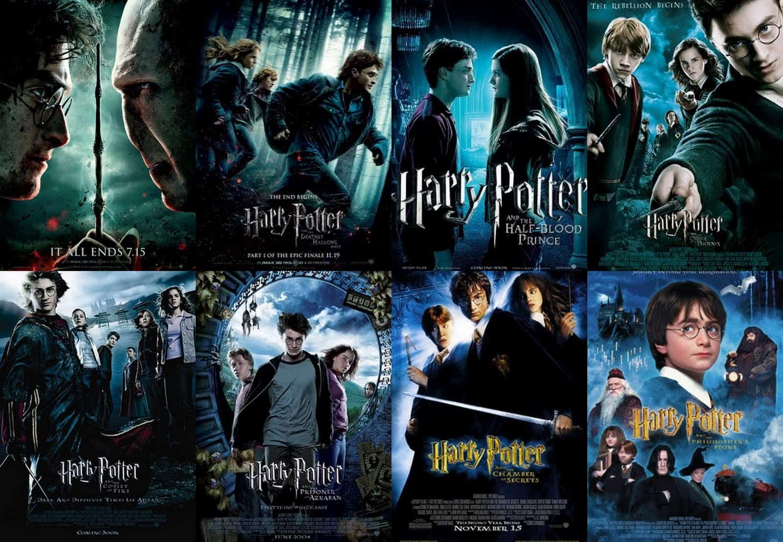 List Of Harry Potter Movies In Order Watch Them All Harry Potter Movie Posters Harry Potter Movies Watch Harry Potter Movies