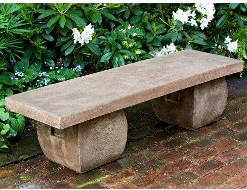 Cast Stone Garden Bench Aged Limestone Stone Garden Bench