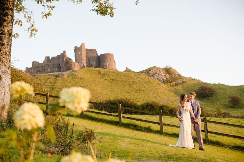 Wedding Day With Ellie And Clint At Carreg Cennen Castle Panoramic Picture Frames Carreg Cennen Castle Panoramic Picture