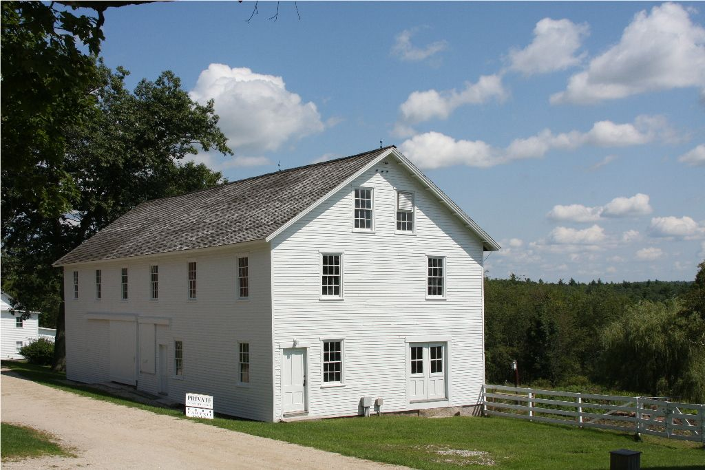 shaker barn maine - great french doors!
