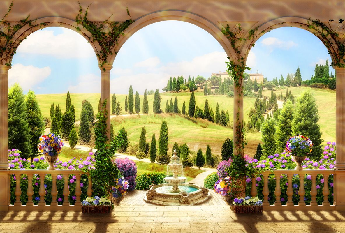 Country landscape - WALL MURALS | headboard ideas | Pinterest ...