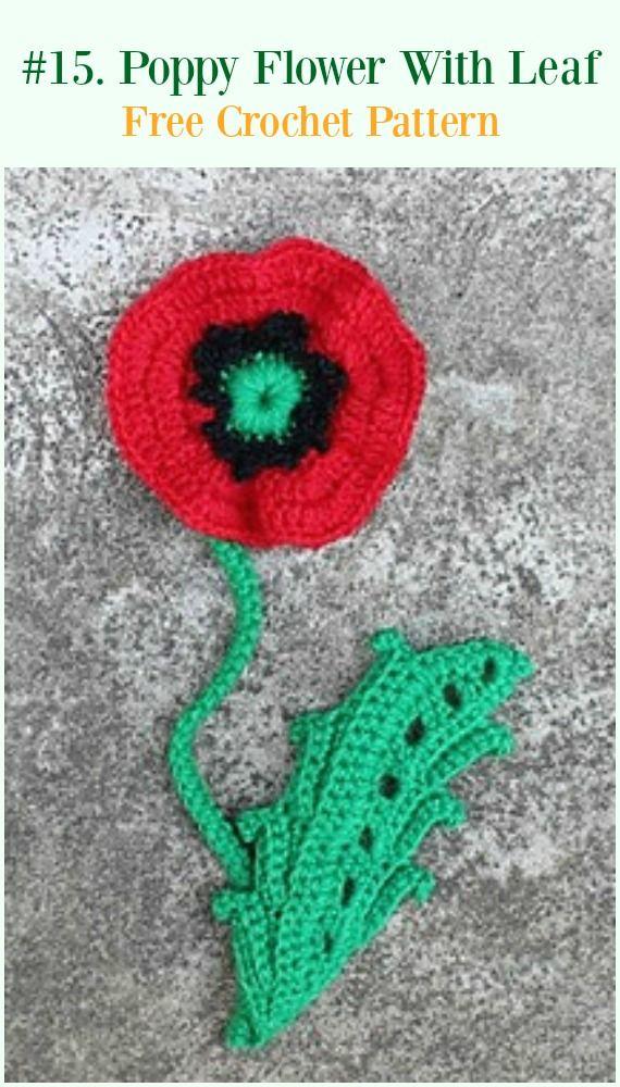 Free Poppy Leaf Crochet Pattern Zoshwiki