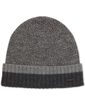Boss Men s Virgin Wool Beanie Hat - Blue  c1f9c328ef7