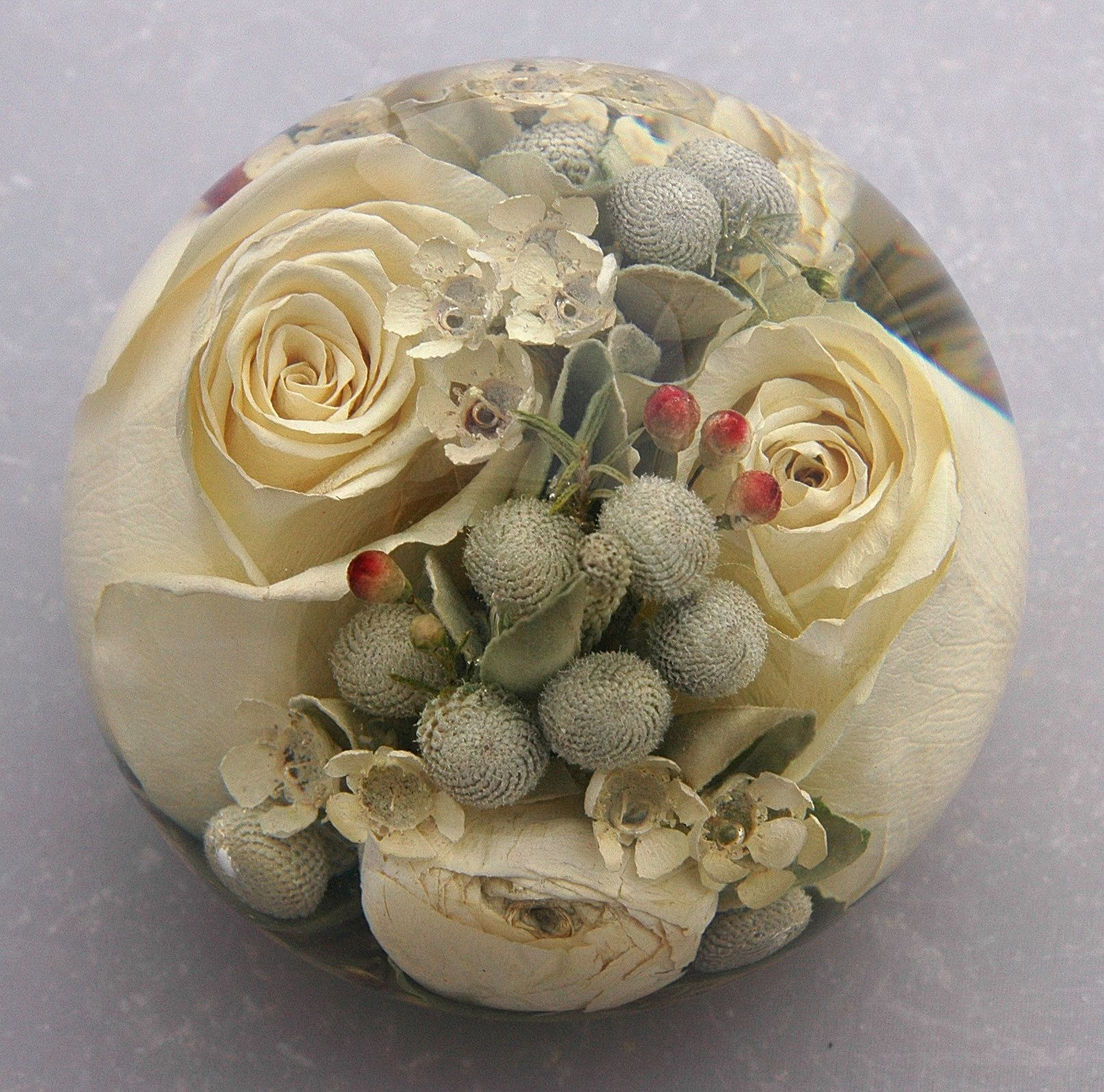 Wedding Flowers In Resin: Flower Preservation Paperweights A Lovely Keepsake From