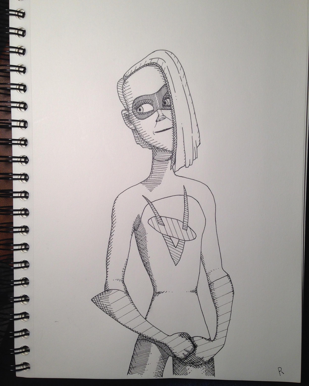 Voyd Incredibles 2 Fan Art Pen Art Fan Art The Incredibles