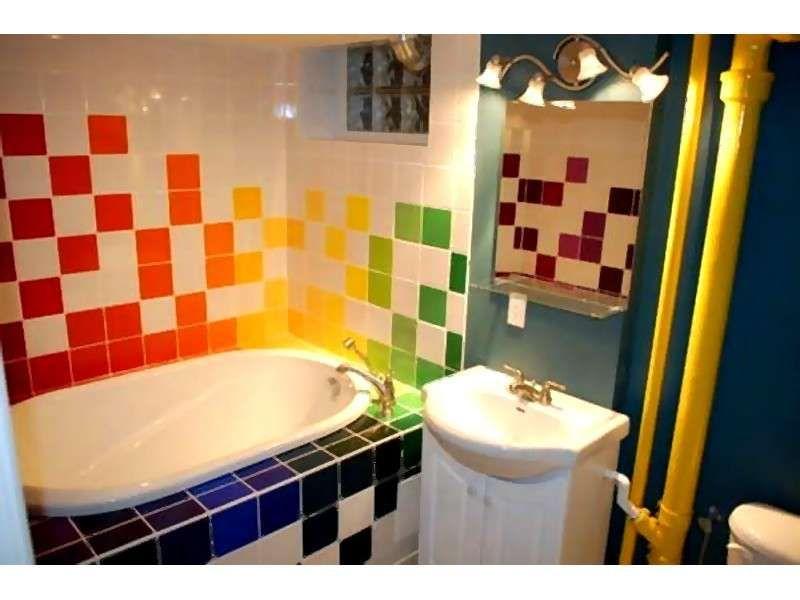 Come decorare le piastrelle bagno mutlicolor house