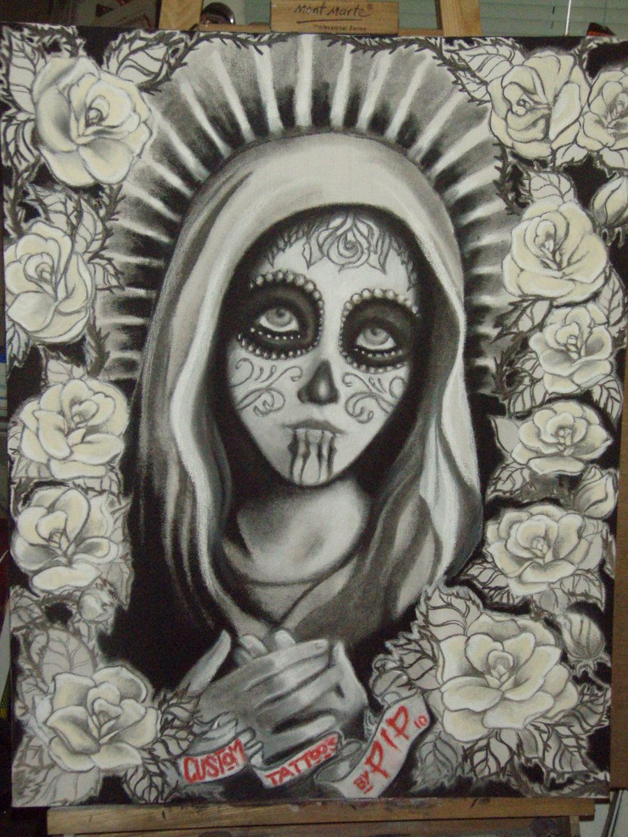 Day of the Dead Virgin Mary by miss-pip.deviantart.com on ...