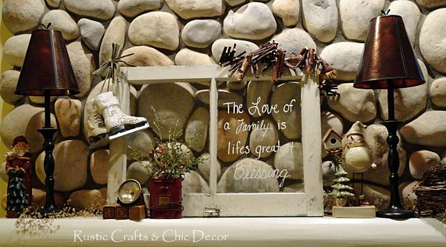 a vintage christmas mantel bebe rustic vignette for the holidays