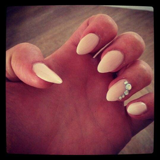 Nude acrylic wi diamantes !   Makeup & Nails   Pinterest   Make up