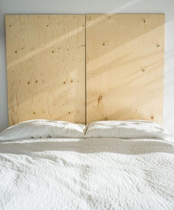 bett-kopfteil zum selbermachen-sperholzplatte zur befestigung, Hause deko