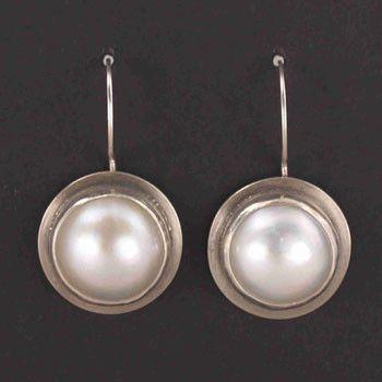 JL Walsh Metalsmith Jewelry Earrings Sterling Silver Bezel Set