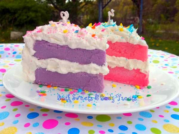 Cake Slice Candles  www.bathsweetsandbodytreats.com