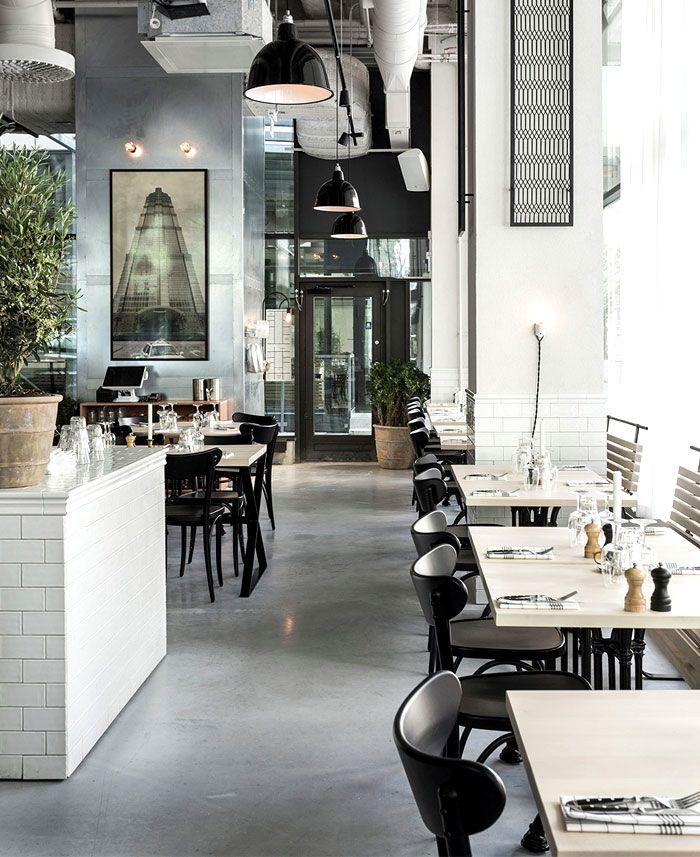 Scandinavian Inspired Minimalist Restaurant Decor Restaurants And Design  Also Rh Pinterest
