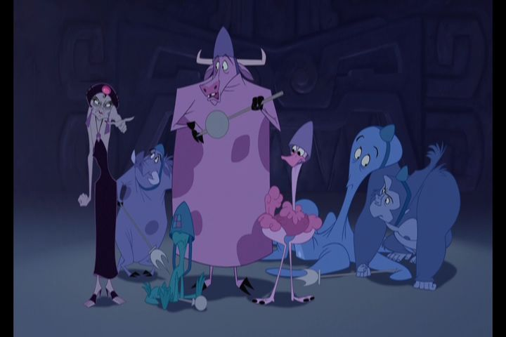 Yzma: Get them!  Cow Guard: Hey, I've been turned into a cow. Can I go home?  Yzma: You're excused. Anybody else?  Other Guards: No, no. We're good. -  The Emperor's New Groove