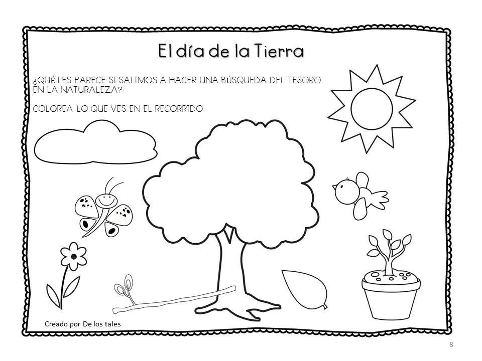 Día De La Tierra De Los Tales Día De La Tierra Cuidado De La Naturaleza Medio Ambiente Para Colorear