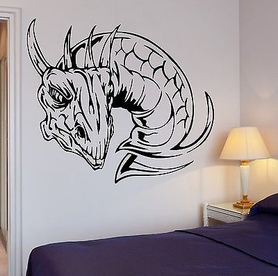 Wall Decal Dragon Fire Mythology Fantasy Monster Cool Interior (z2709)
