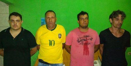 Quatro presos com 100 kgs de maconha e veículos roubados