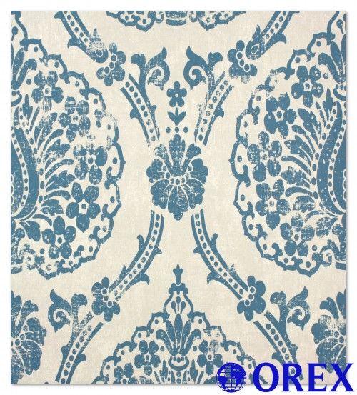 Vliestapete Scandinavian Vintage Marburg 51651 blau Tapeten Marburg ...
