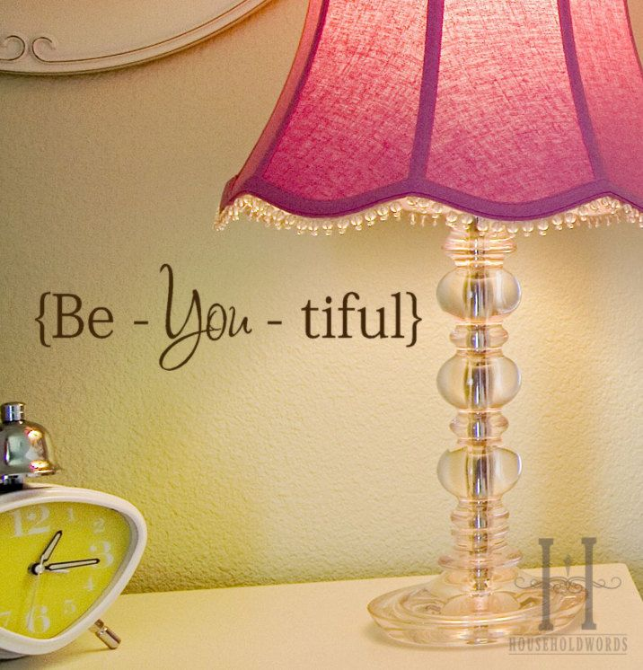 Beautiful decal sticker Be You Tiful wall word quote