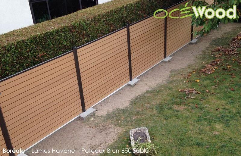Palissade séparative en composite et aluminium  - palissade en pvc jardin