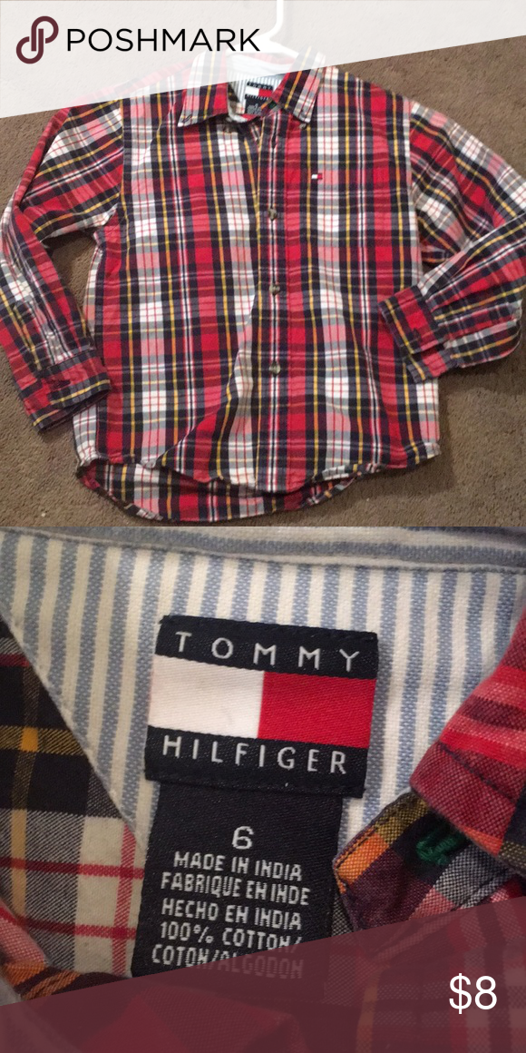9c1c5c5e Tommy Hilfiger Sz 6 Boys Shirt - B4 Tommy Hilfiger Sz 6 Boys Shirt Tommy  Hilfiger