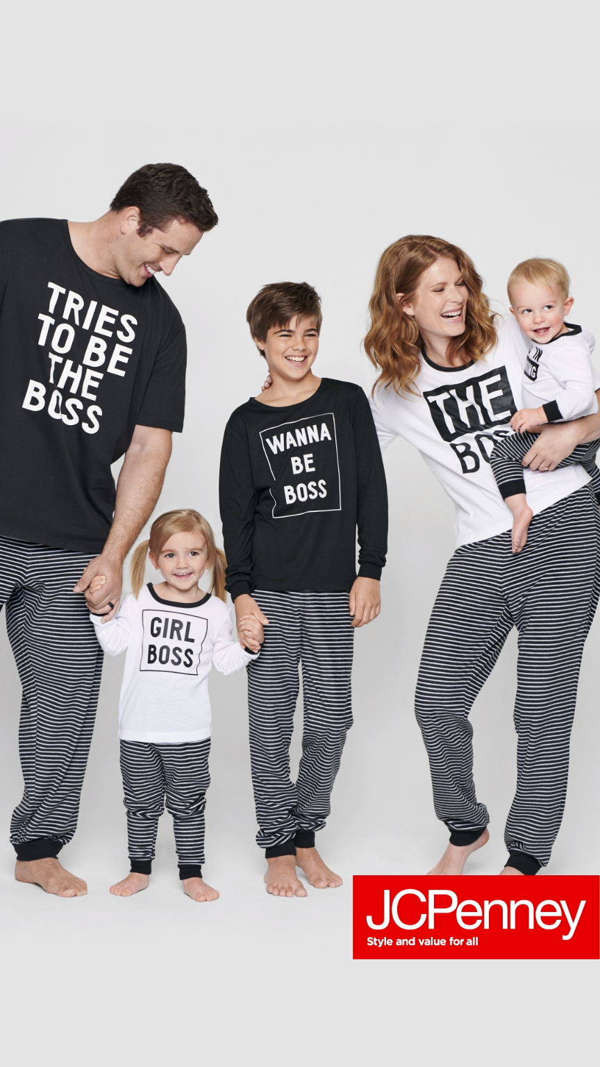 PJs all day  Don t mind if we do! Get matching family jammies at JCPenney  just in time for the holidays. Hurry bca6ada02