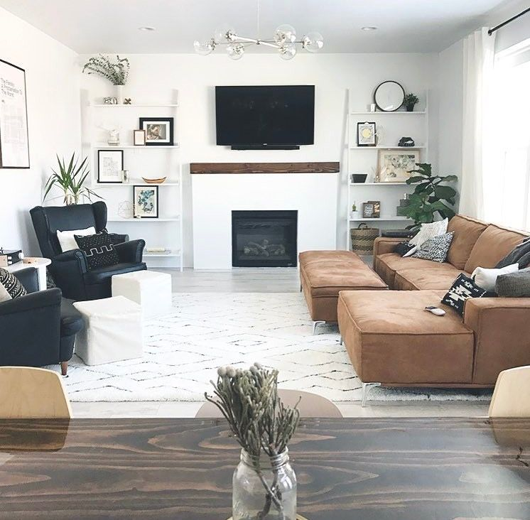 10++ Leather couch living room setup ideas