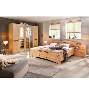 Home affaire Schlafzimmer-Set (4-tlg) »Sarah«, mit Bett 180/200 und - schlafzimmer komplett